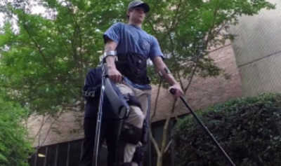 Patient walking with assistive technology
