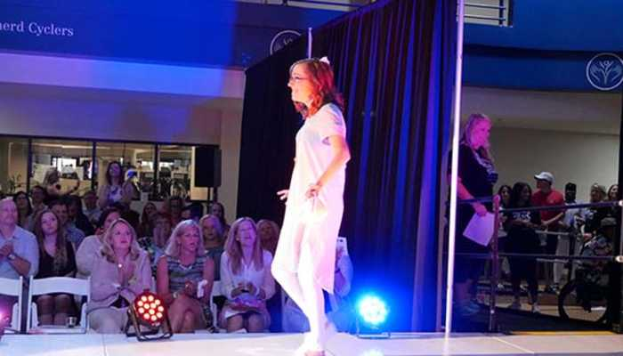 Patient participates in Project Rollway fashion show at Shepherd Center.