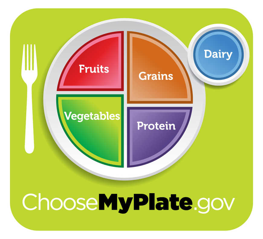 Choose My plate with macronutrients